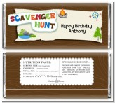 Scavenger Hunt - Personalized Birthday Party Candy Bar Wrappers