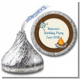 Scavenger Hunt - Hershey Kiss Birthday Party Sticker Labels thumbnail