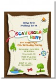 Scavenger Hunt - Birthday Party Petite Invitations
