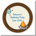 Scavenger Hunt - Round Personalized Birthday Party Sticker Labels thumbnail
