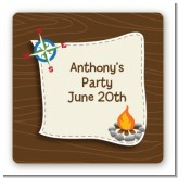 Scavenger Hunt - Square Personalized Birthday Party Sticker Labels