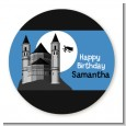 School of Wizardry - Round Personalized Birthday Party Sticker Labels thumbnail