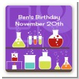 Science Lab - Square Personalized Birthday Party Sticker Labels thumbnail