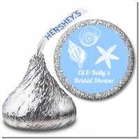 Sea Shells - Hershey Kiss Bridal Shower Sticker Labels