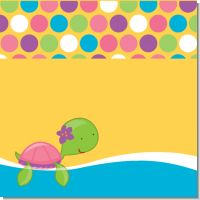 Sea Turtle Girl Birthday Party Theme