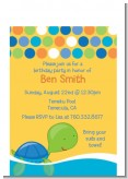 Sea Turtle Boy - Birthday Party Petite Invitations
