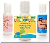 Sea Turtle Boy - Personalized Birthday Party Lotion Favors