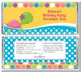 Sea Turtle Girl - Personalized Birthday Party Candy Bar Wrappers