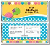 Sea Turtle Girl - Personalized Baby Shower Candy Bar Wrappers