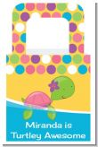 Sea Turtle Girl - Personalized Baby Shower Favor Boxes