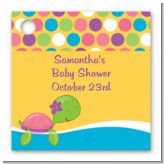 Sea Turtle Girl - Personalized Baby Shower Card Stock Favor Tags