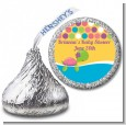 Sea Turtle Girl - Hershey Kiss Baby Shower Sticker Labels thumbnail