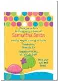 Sea Turtle Girl - Birthday Party Petite Invitations