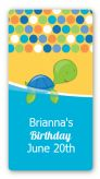 Sea Turtle Boy - Custom Rectangle Birthday Party Sticker/Labels