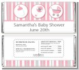 Shake, Rattle & Roll Pink - Personalized Baby Shower Candy Bar Wrappers thumbnail