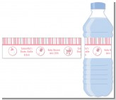Shake, Rattle & Roll Pink - Personalized Baby Shower Water Bottle Labels