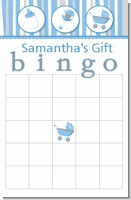 Shake, Rattle & Roll Blue - Baby Shower Gift Bingo Game Card
