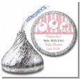 Shake, Rattle & Roll Pink - Hershey Kiss Baby Shower Sticker Labels thumbnail