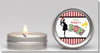She's Ready To Pop Christmas Edition - Baby Shower Candle Favors