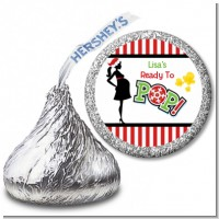 She's Ready To Pop Christmas Edition - Hershey Kiss Baby Shower Sticker Labels