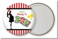She's Ready To Pop Christmas Edition - Personalized Baby Shower Pocket Mirror Favors