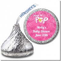 She's Ready To Pop Pink - Hershey Kiss Baby Shower Sticker Labels