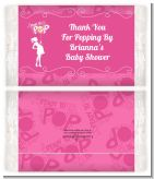 She's Ready To Pop Pink - Personalized Popcorn Wrapper Baby Shower Favors