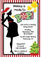 She's Ready To Pop Christmas Edition - Baby Shower Invitations thumbnail