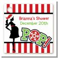 She's Ready To Pop Christmas Edition - Personalized Baby Shower Card Stock Favor Tags thumbnail