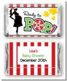 She's Ready To Pop Christmas Edition - Personalized Baby Shower Mini Candy Bar Wrappers