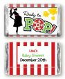 She's Ready To Pop Christmas Edition - Personalized Baby Shower Mini Candy Bar Wrappers thumbnail