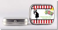 She's Ready To Pop Christmas Edition - Personalized Baby Shower Mint Tins