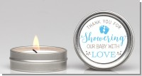 Showering Our Baby Boy - Baby Shower Candle Favors