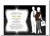 Silhouette Couple | It's a Baby Neutral - Baby Shower Petite Invitations