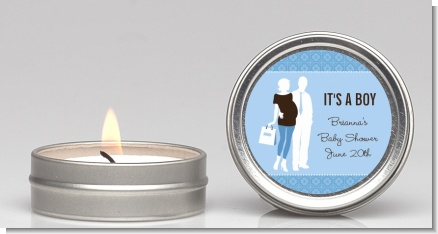 Silhouette Couple | It's a Boy - Baby Shower Candle Favors