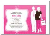 Silhouette Couple | It's a Girl - Baby Shower Petite Invitations