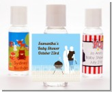 Silhouette Couple BBQ Boy - Personalized Baby Shower Hand Sanitizers Favors