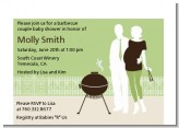 Silhouette Couple BBQ Neutral - Baby Shower Petite Invitations