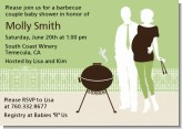 Silhouette Couple BBQ Neutral - Baby Shower Invitations