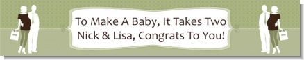 Silhouette Couple | It's a Baby Neutral - Personalized Baby Shower Banners