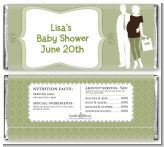 Silhouette Couple | It's a Baby Neutral - Personalized Baby Shower Candy Bar Wrappers