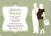 Silhouette Couple | It's a Baby Neutral - Baby Shower Invitations
