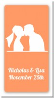 Silhouette Couple - Custom Rectangle Bridal Shower Sticker/Labels
