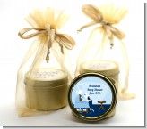 Sip and See It's a Boy - Baby Shower Gold Tin Candle Favors