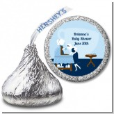 Sip and See It's a Boy - Hershey Kiss Baby Shower Sticker Labels