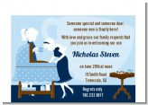Sip and See It's a Boy - Baby Shower Petite Invitations