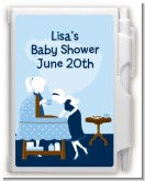 Sip and See It's a Boy - Baby Shower Personalized Notebook Favor