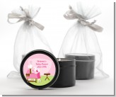Sip and See It's a Girl - Baby Shower Black Candle Tin Favors