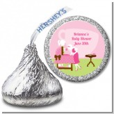 Sip and See It's a Girl - Hershey Kiss Baby Shower Sticker Labels