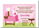 Sip and See It's a Girl - Baby Shower Petite Invitations